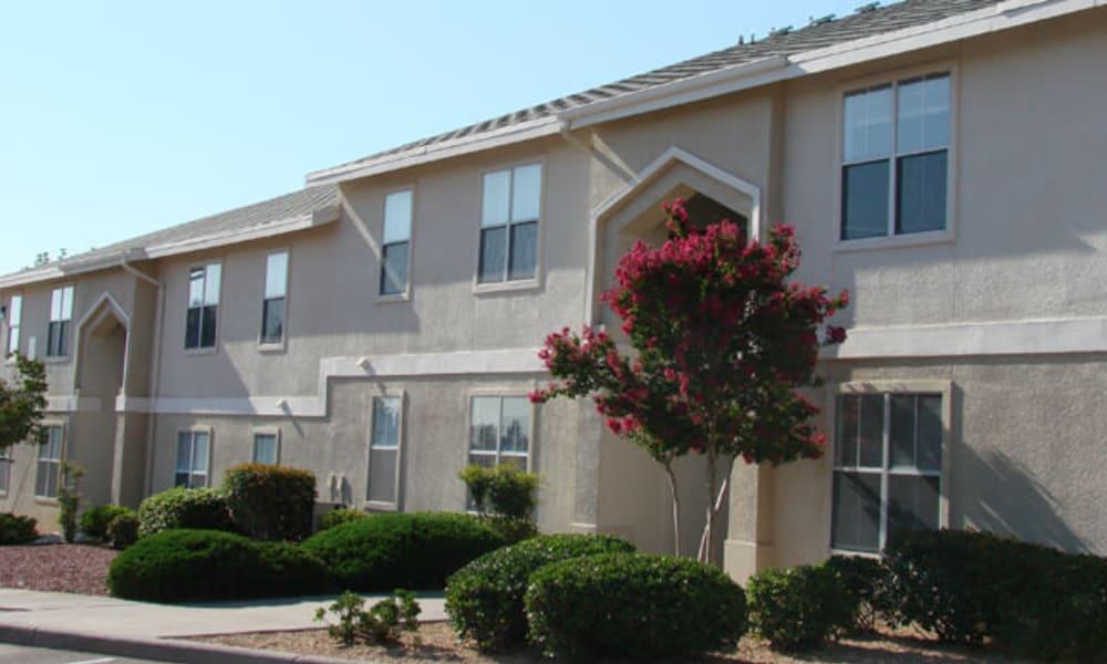 A row of apartments at The Patriot Apartments in El Paso, Texas