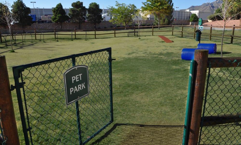 A dog park at The Patriot Apartments in El Paso, Texas