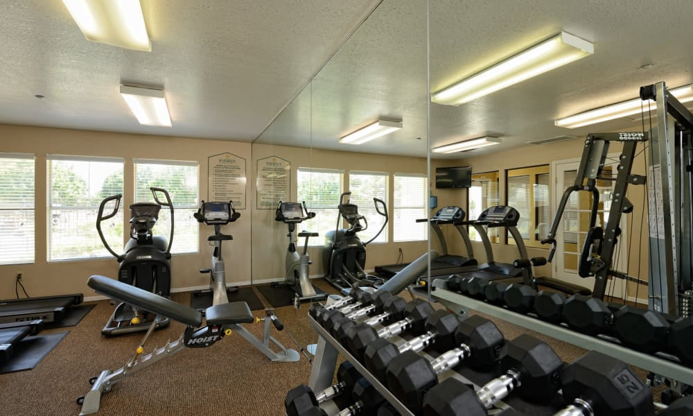 The fitness center at The Patriot Apartments in El Paso, Texas