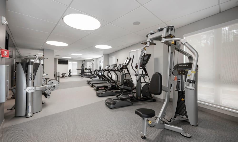 Exercise area at Velō in Boston, Massachusetts