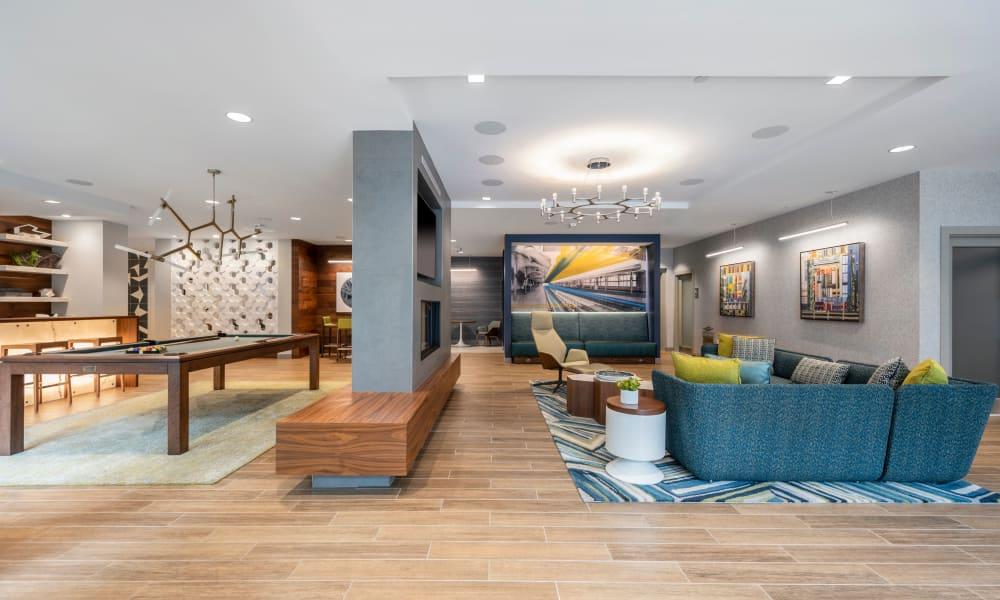 Living area at  Velō in Boston, Massachusetts