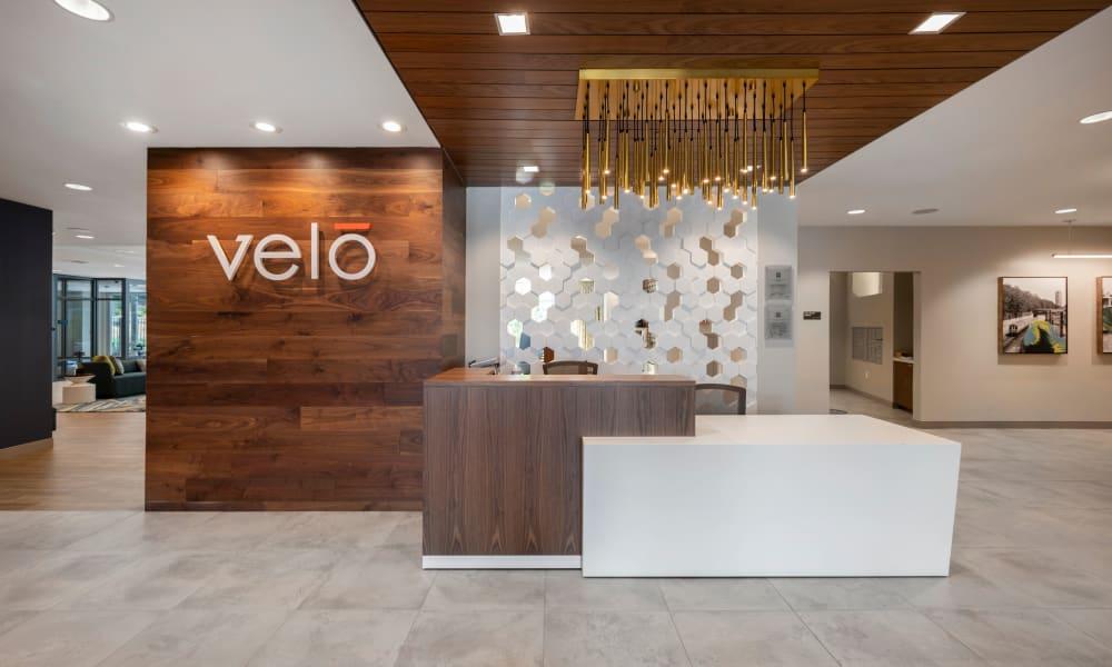 Entrance to Velō in Boston, Massachusetts