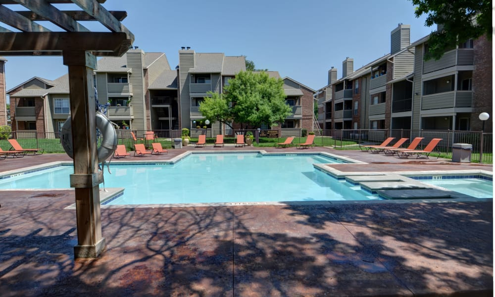 The pool at Newport Apartments in Amarillo, Texas