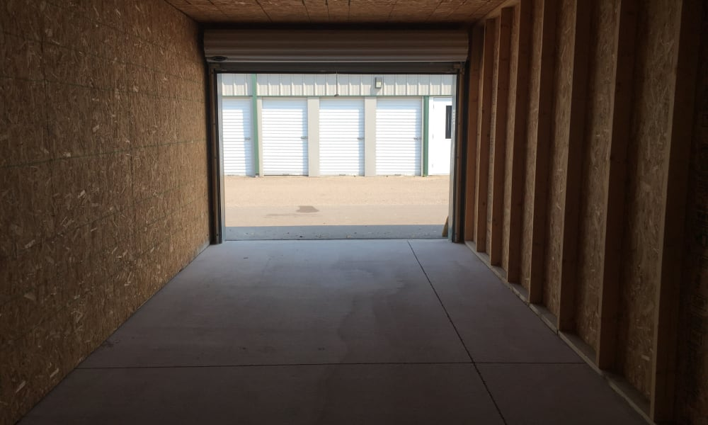 Storage unit interior at Devon Self Storage in Grand Rapids, Michigan