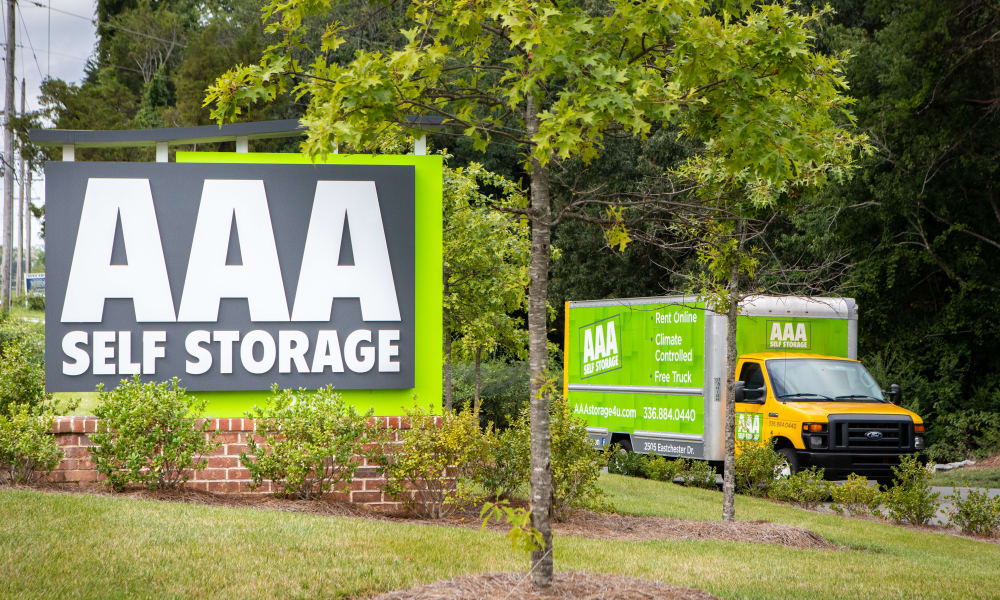 Free moving truck from AAA Self Storage
