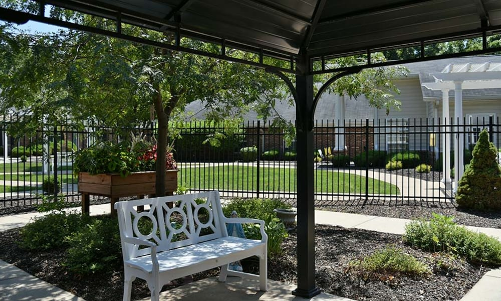 Outdoor Living Space at Chestnut Terrace in Saint Peters, Missouri