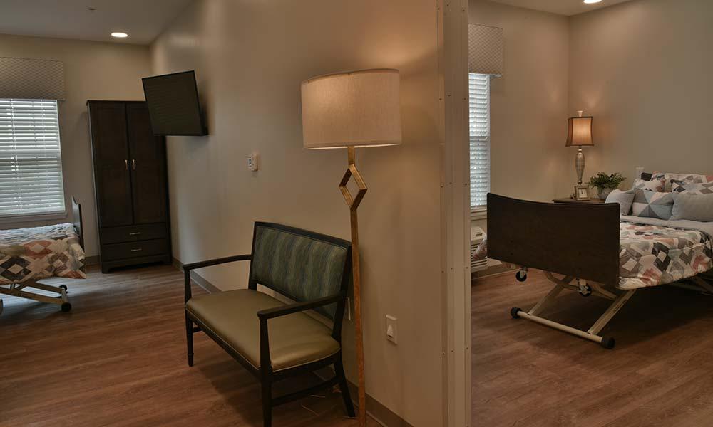 Uniquely designed semi-private rooms for enhanced privacy