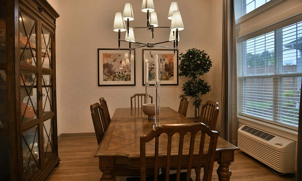 Private dining room at Grand Plains in Pratt, Kansas