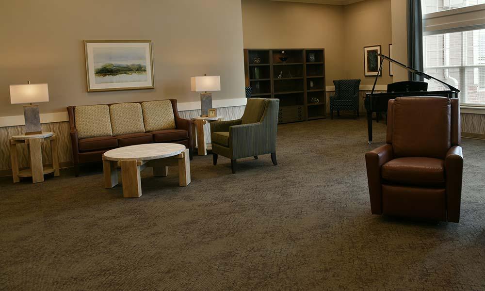 One of two living rooms at Grand Plains in Pratt, Kansas