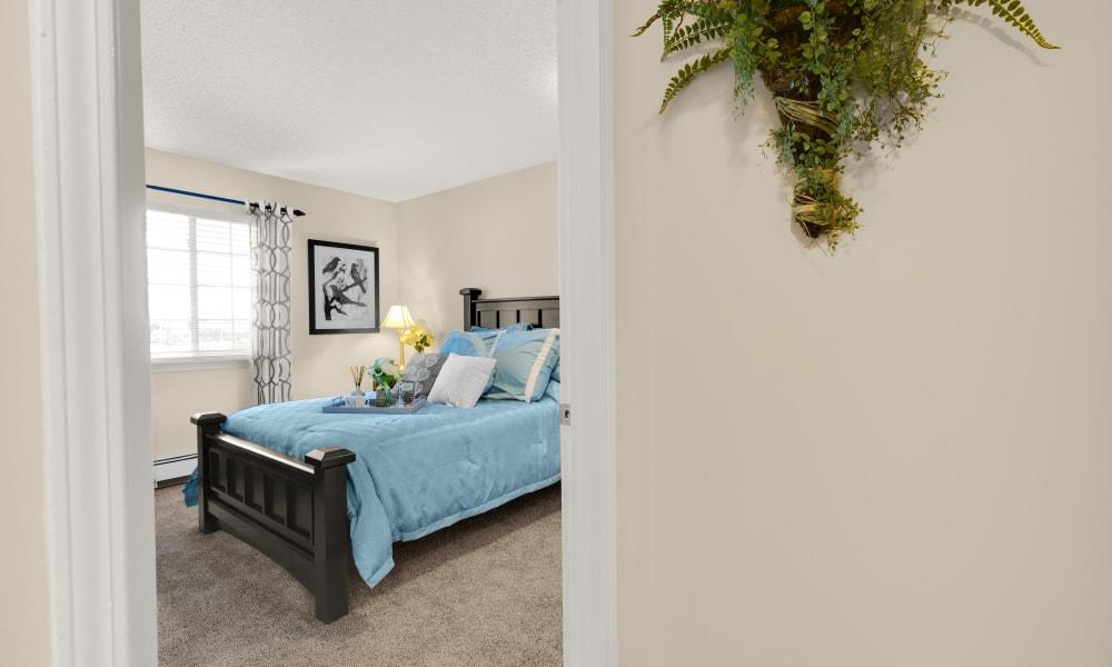 Bedroom at Waltonwood Carriage Park in Canton, Michigan