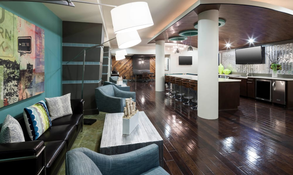 Clubhouse kitchen at Bellrock Bishop Arts in Dallas, Texas