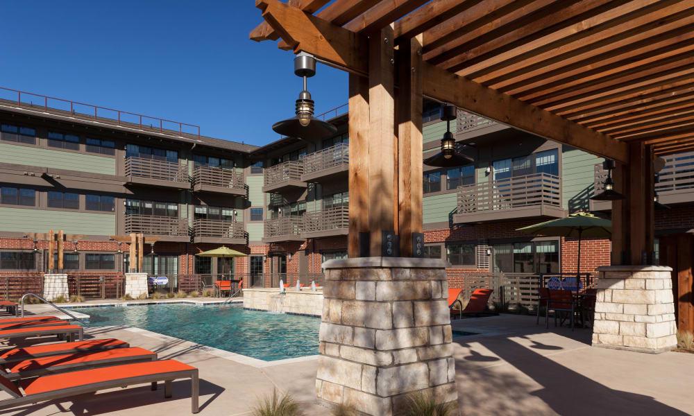 Wonderful poolside seating at Bellrock Bishop Arts in Dallas, Texas