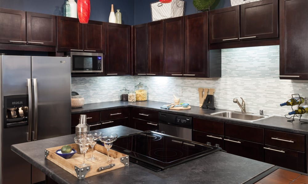 Stainless steel appliances at Bellrock Bishop Arts in Dallas, Texas