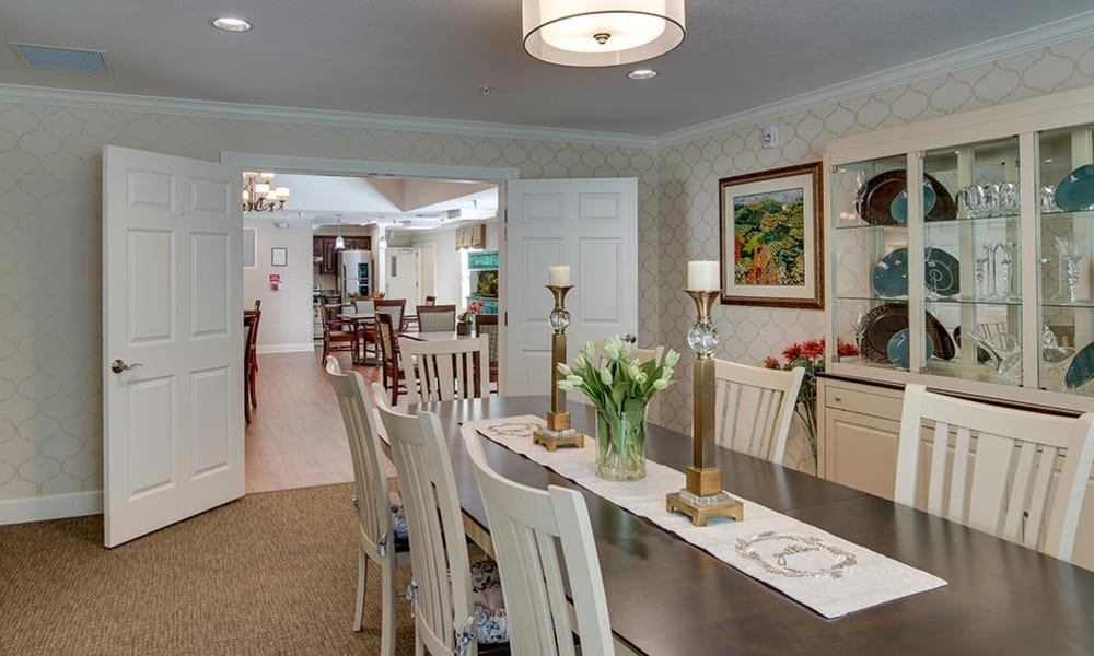 Small Dining Room at Carrington Place Senior Living