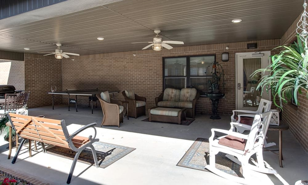 Outdoor Living Space at Carrington Place Senior Living