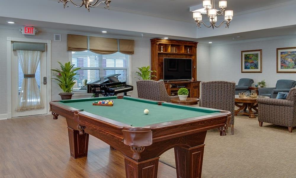 Activities Room at Carrington Place Senior Living in Pittsburg, Kansas