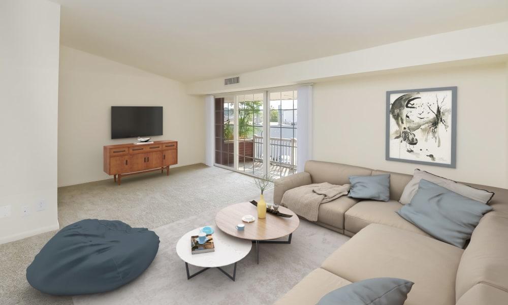 Spacious Living Room at Strafford Station Apartments in Wayne, Pennsylvania