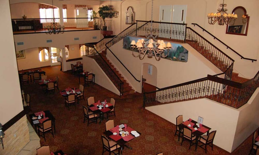 Dining hall at Pennington Gardens in Chandler, Arizona