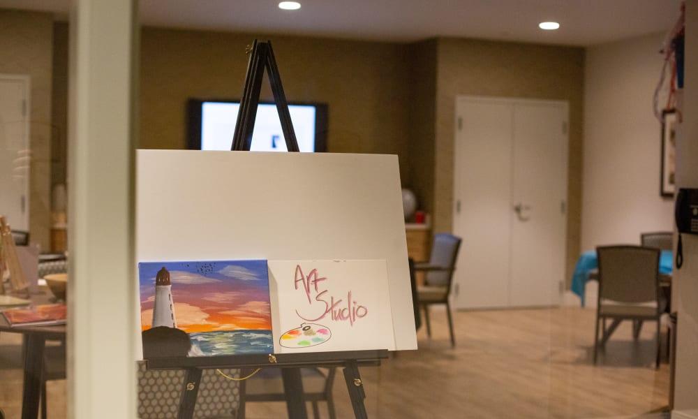 Painting at Quail Park at Morrison Ranch in Gilbert, Arizona