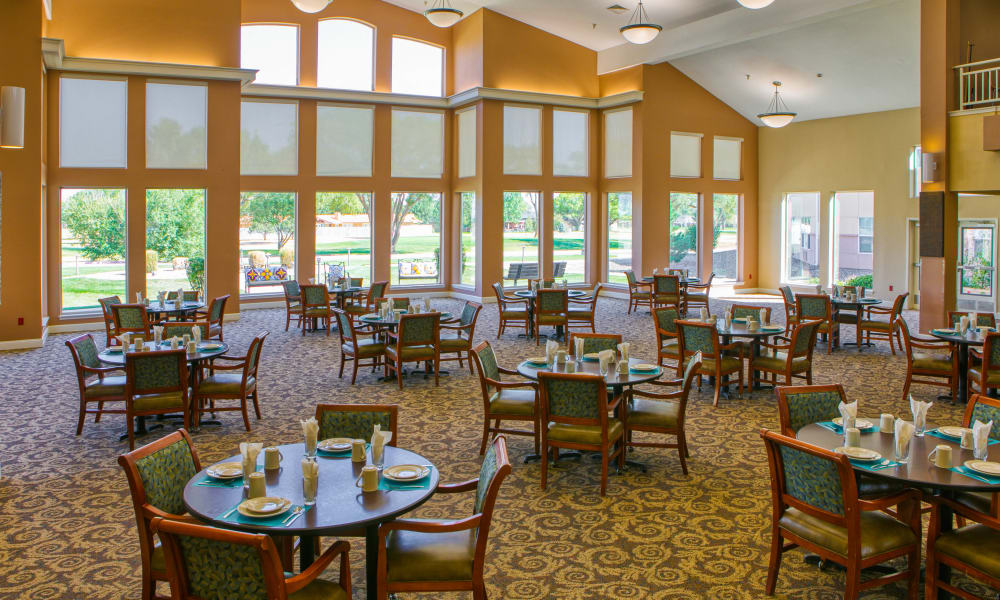 The Dining Room at Wheatfields Senior Living Community in Clovis, New Mexico