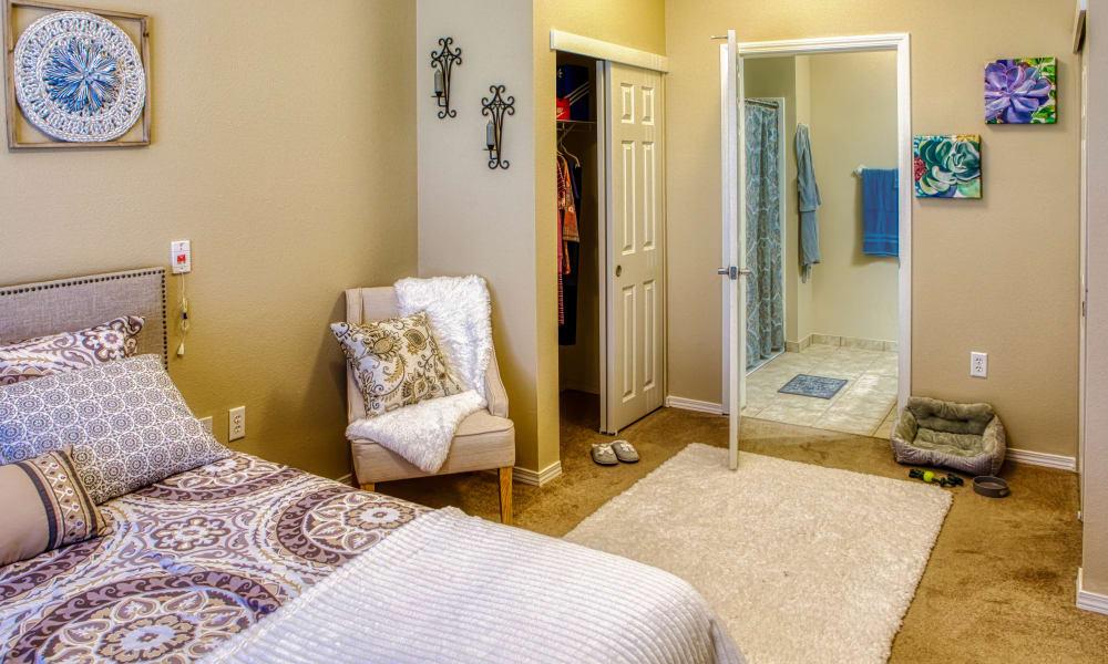 One bedroom apartment interior at Wheatfields Senior Living Community in Clovis, New Mexico