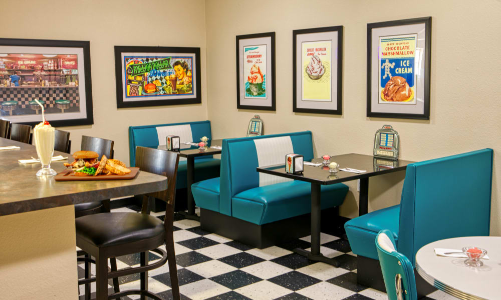 The Ice Cream Parlor at Wheatfields Senior Living Community in Clovis, New Mexico