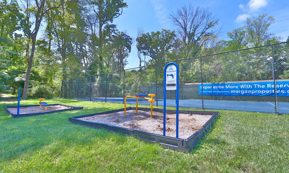 Outdoor Fitness Area at The Reserve at Greenspring in Baltimore, Maryland
