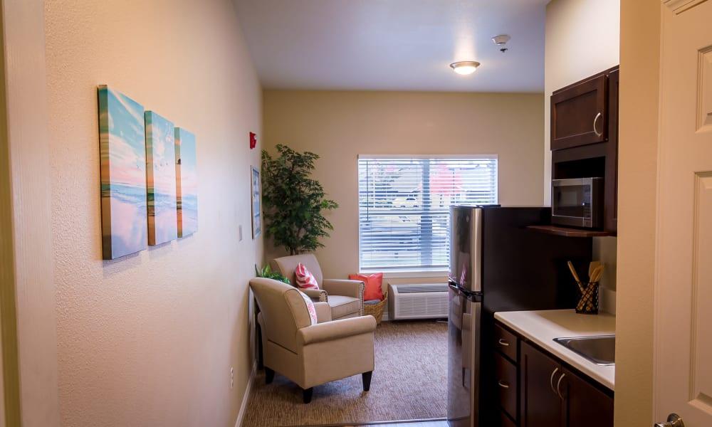 Studio at Evergreen Senior Living in Eugene, Oregon