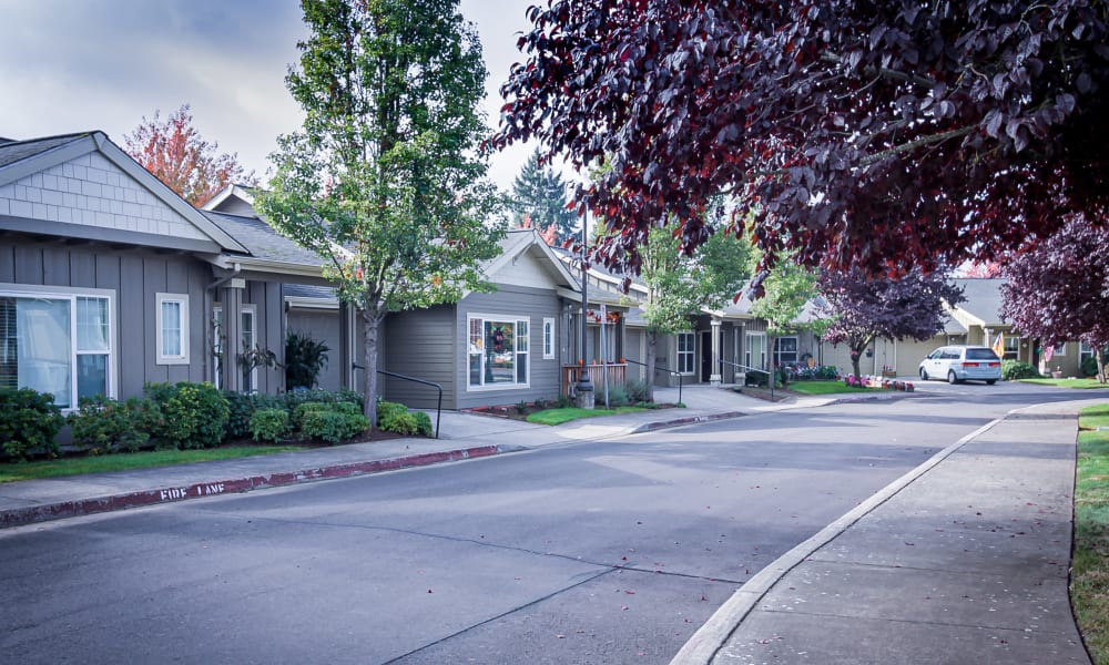 Exterior of Cottage at Evergreen Senior Living in Eugene, Oregon