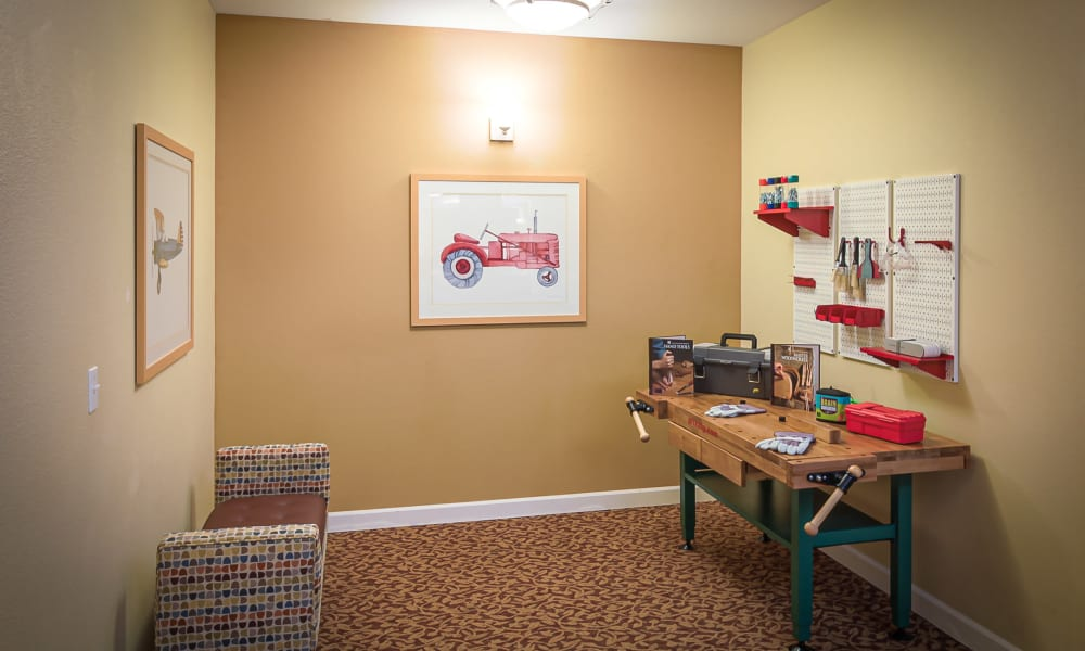 Creative workspace at Evergreen Memory Care