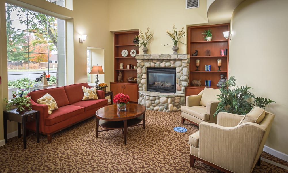 Common space at Evergreen Memory Care