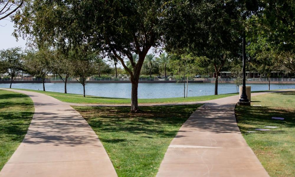 Lake views at Quail Park at Morrison Ranch in Gilbert, Arizona