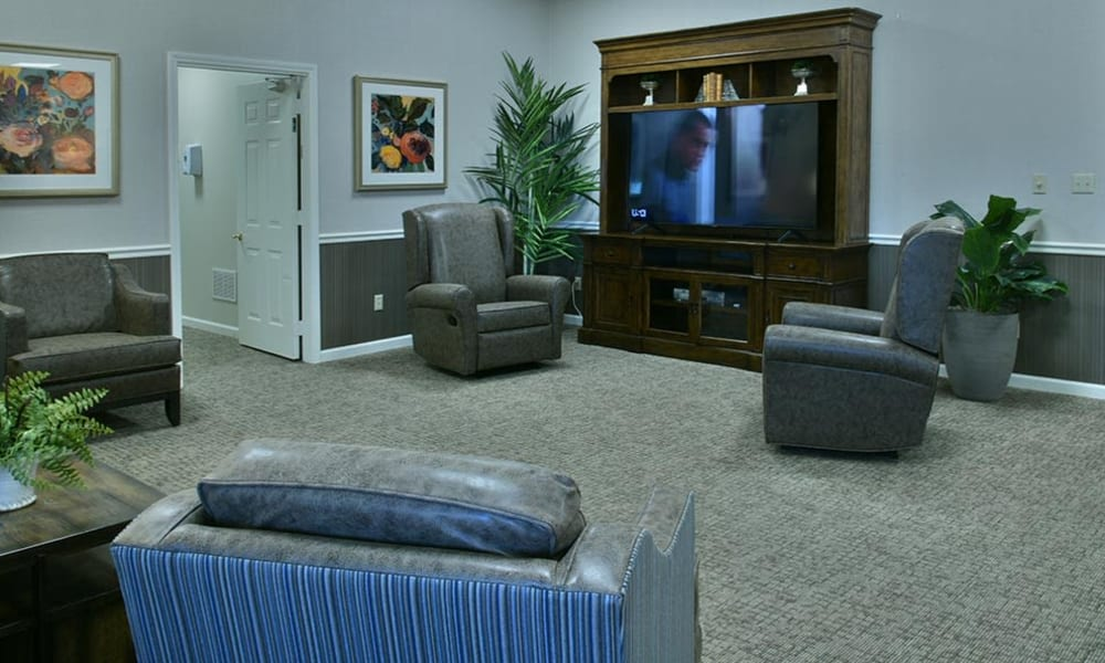 Television Lounge and Living Room at The Arbors at Parkway Cove