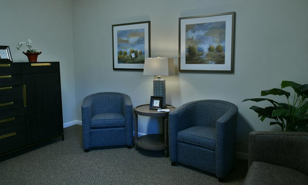Quiet Room for Memory Care Residents at Parkway Cove in Covington, Tennessee