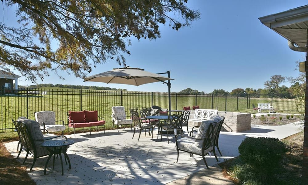 Secure Outdoor Living Space at The Arbors at Parkway Cove in Covington, Tennessee