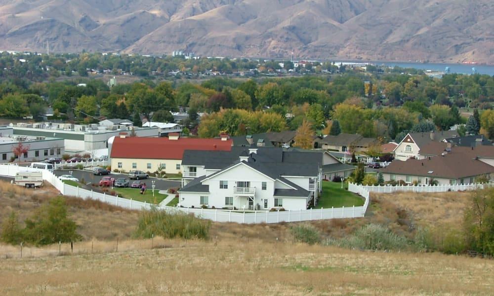 Fenced campus at Generations at Lewiston in Lewiston, Idaho