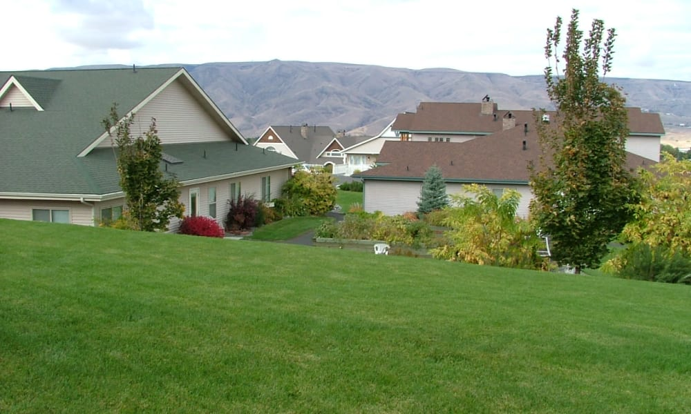 Green hill overlooking the community at Generations at Lewiston in Lewiston, Idaho