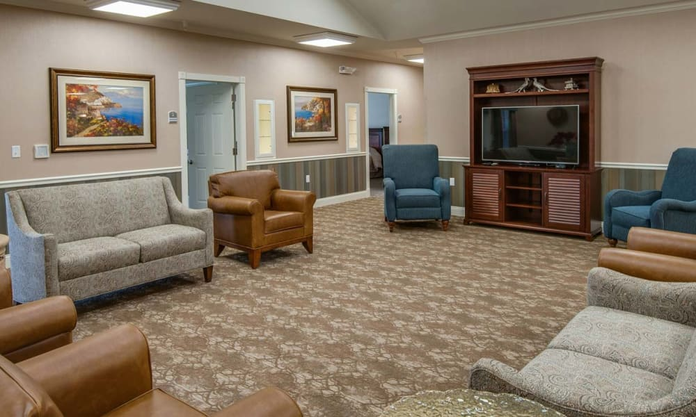Seating area at Field Pointe Assisted Living in Saint Joseph, Missouri