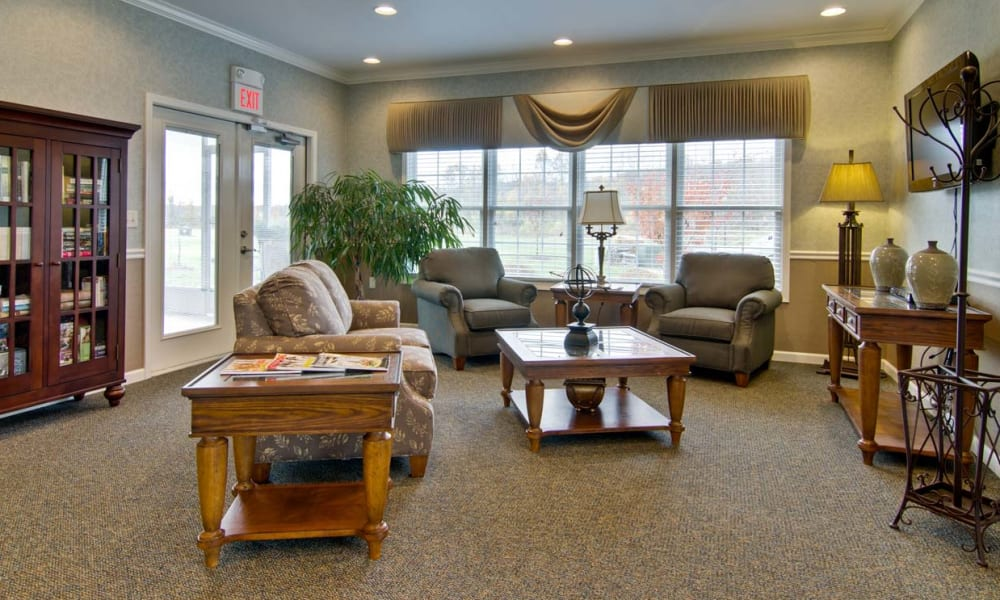 Living space for enjoyment & relaxation at Field Pointe Assisted Living in Saint Joseph, Missouri