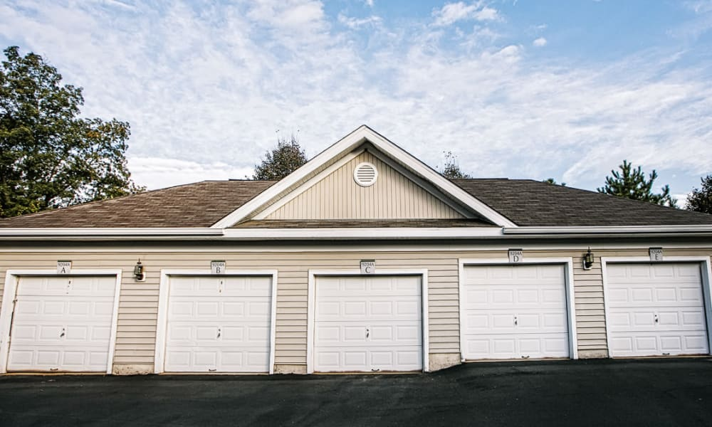 Private garages available at Arbor Ridge Apartments in Owings Mills, Maryland