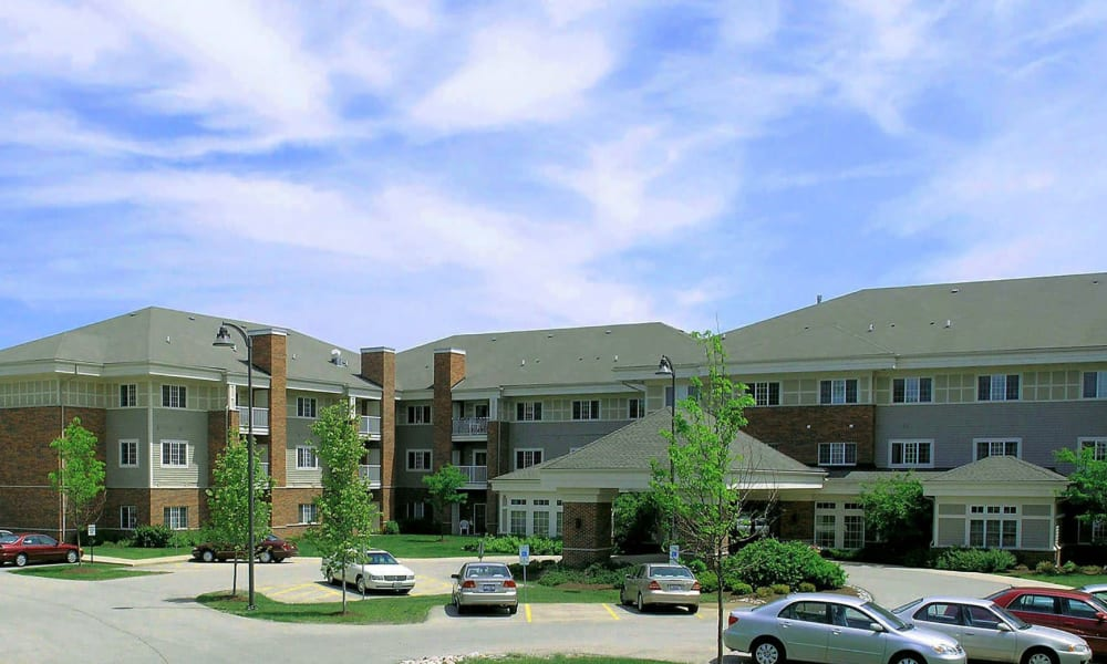 Exterior of apartment building at Randall Residence of McHenry in McHenry, Illinois