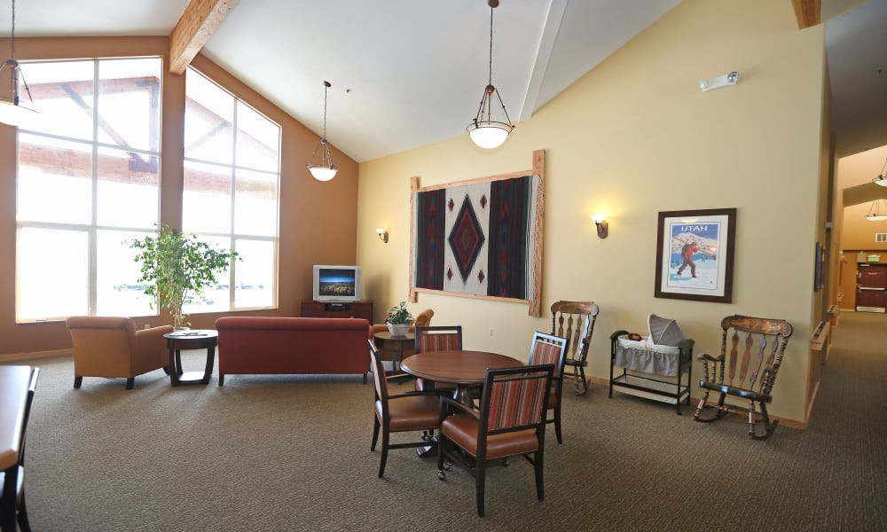 Library at Elk Meadows Assisted Living and Memory Care in Oakley, Utah