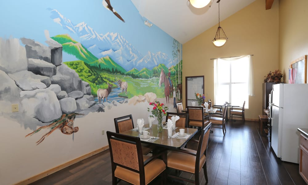 Main lobby at Elk Meadows Assisted Living and Memory Care in Oakley, Utah