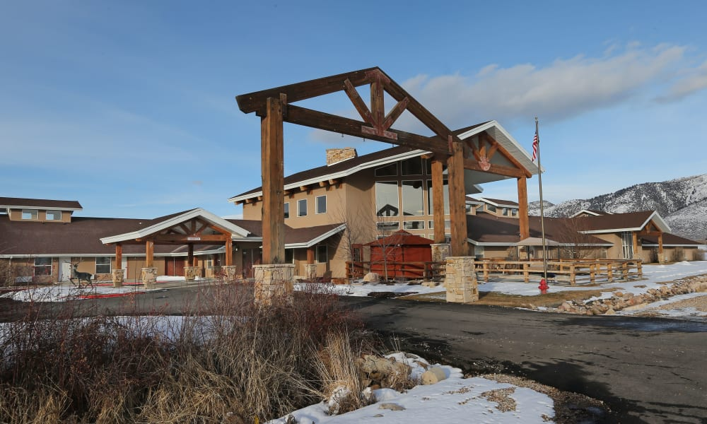 Drive up to Elk Meadows Assisted Living and Memory Care in Oakley, Utah