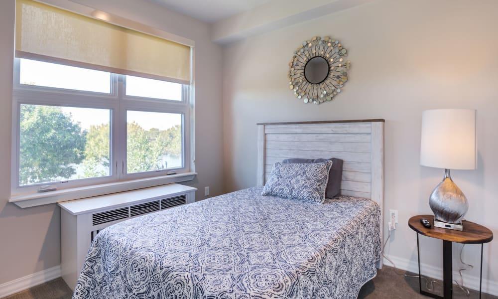 Apartment bedroom at Quail Park at Morrison Ranch in Gilbert, Arizona