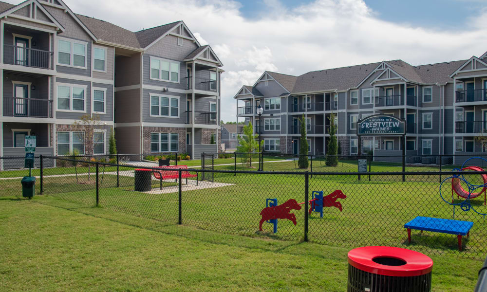 Amazing bark park for residents at Artisan Crossing in Norman, Oklahoma