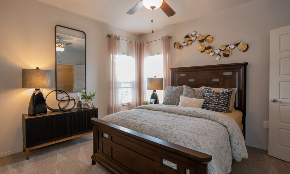 Large bedroom with windows and lots of light at Artisan Crossing in Norman, Oklahoma