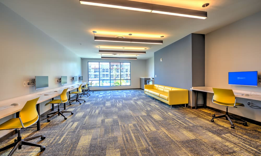 Community office area at Fusion