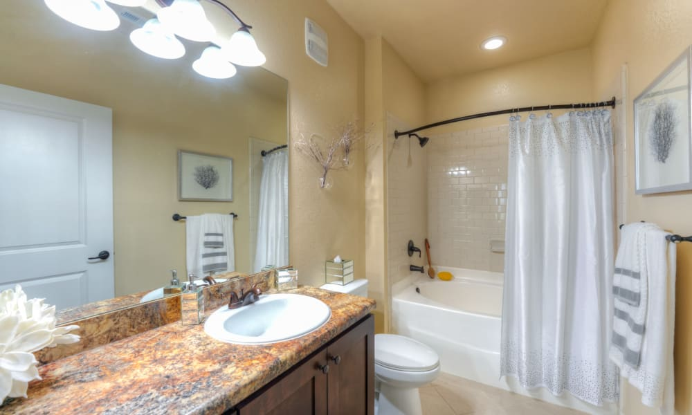 Very spacious bathroom with shower tub at Cabana Club and Galleria Club in Jacksonville, Florida