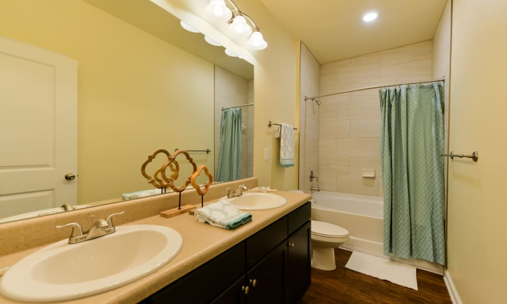 Large Bathroom with shower tub at Cabana Club and Galleria Club in Jacksonville, Florida